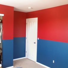 red and blue room