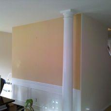 orange accent wall