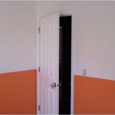orange half wall