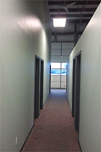 Commercial painting, hallway