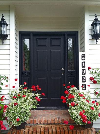 exterior painting - front door