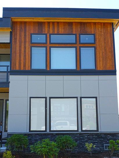 Exterior painting, modern house