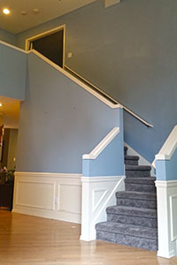 Residential Painting, Stairway Trim Accent